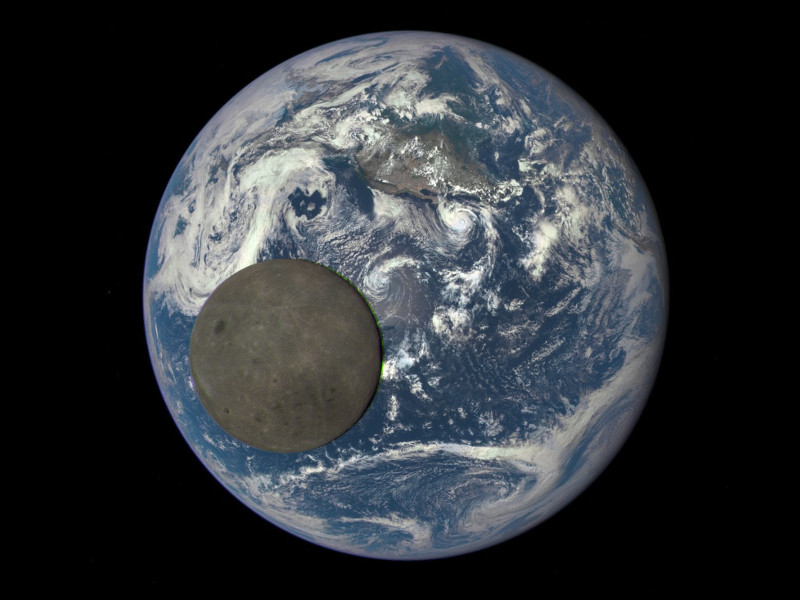 Full Moon in Front of the Earth